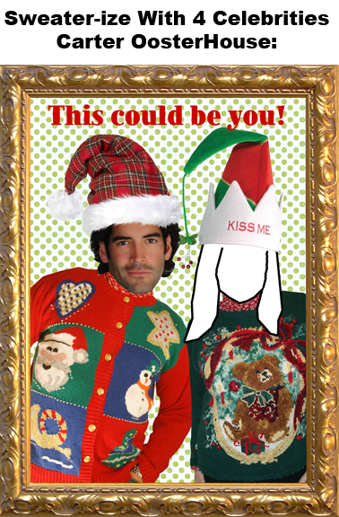 Christmas sweater party'