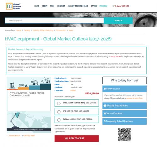 HVAC equipment - Global Market Outlook (2017-2026)'