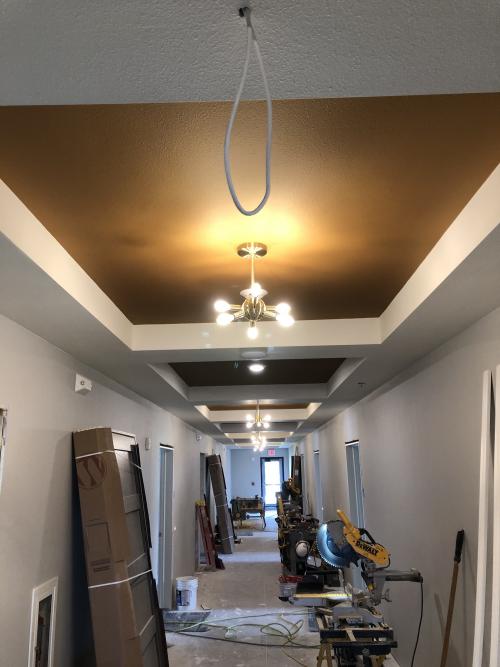 New building light'