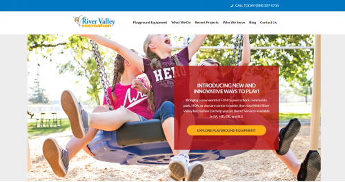 Screenshot of River Valley Recreation homepage'