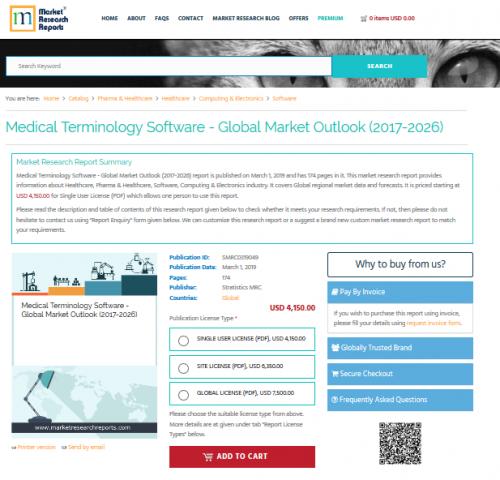 Medical Terminology Software - Global Market Outlook 2026'