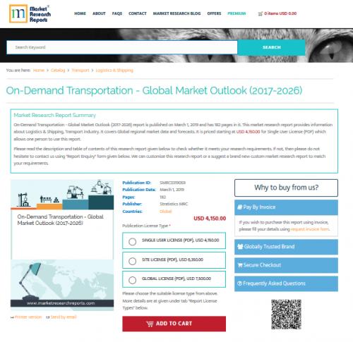 On-Demand Transportation - Global Market Outlook (2017-2026)'
