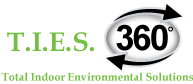 T.I.E.S. 360 Total Indoor Environmental Solutions Logo