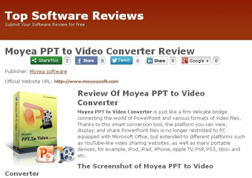 Moyea PPT to Video Convertor'