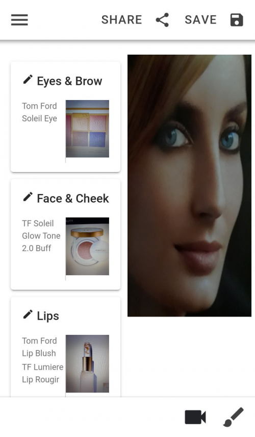 FaceMyMakeup Example Share'