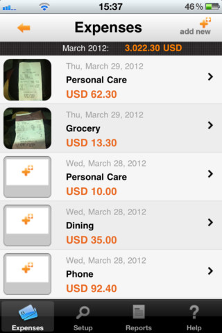 iExpenses Listing Expenses'