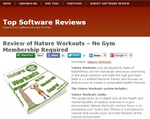 Nature Workouts Review'