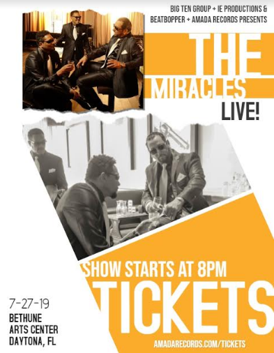 The Miracles Set to Perform at the 2019 SweetSunshine Music'