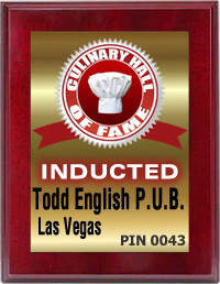 Todd English, P.U.B. Inducted by the Culinary Hall of Fame