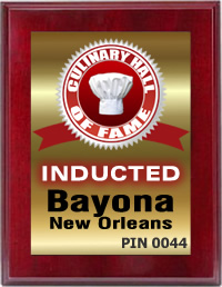 Bayona in New Orleans Inducted by the Culinary Hall of Fame