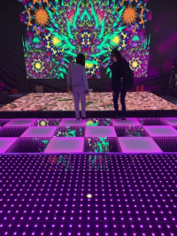A Feast Combining Interactive Light Floor and LED Screen