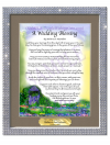 A Wedding Blessing in a Silver Bling Frame'