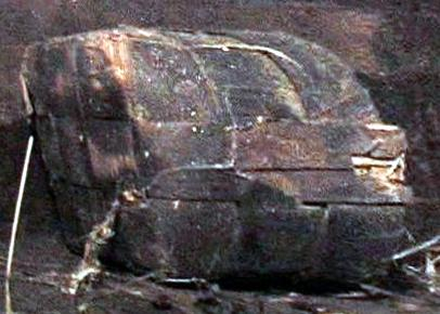 Wood artifact (Artifact 24) in Locus 5, Area A, Ararat.