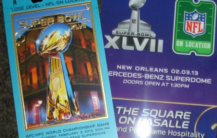 Authentic Ticket to Super Bowl XLVII