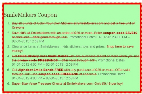 Smile Makers Coupon'