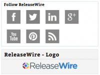 ReleaseWire Connect - Social Media Links on a Press Release