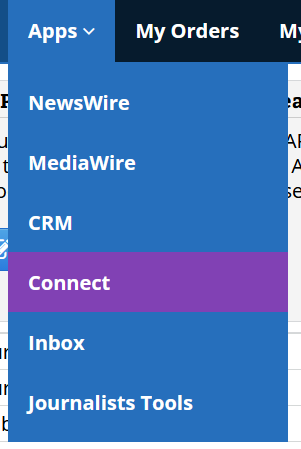ReleaseWire - Apps Menu - Connect'