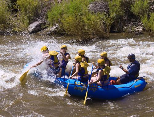 Rafting Near Santa Fe'