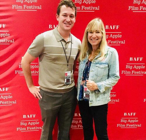 Director Linda Shayne and co-producer Max Vought.'