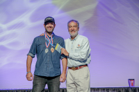 Bravus Founder Philip Brandes Accepting his GABF Medals
