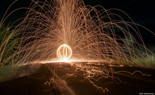 Visually effective photo techniques include light painting'