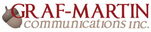 Logo for Graf-Martin Communications'
