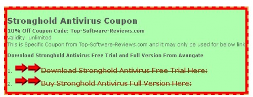 Stronghold Antivirus Coupon'