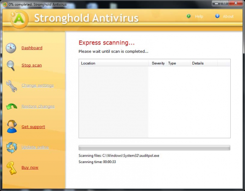 Stronghold Antivirus screenshot'