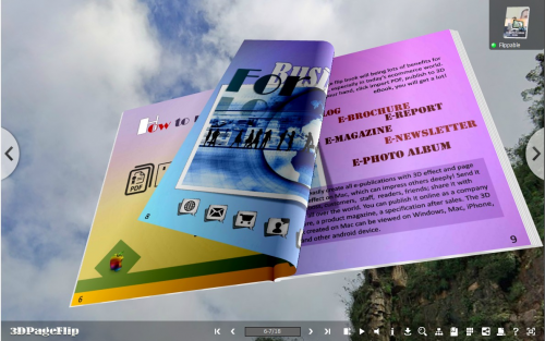 read eBook in 3D space'