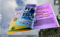 read eBook in 3D space