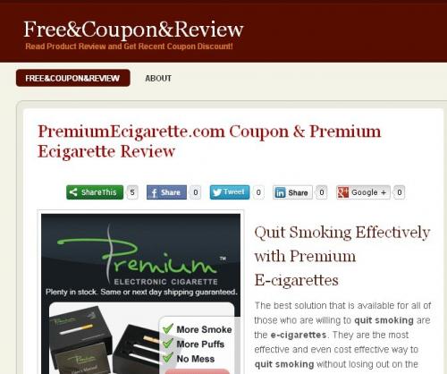 Premium E-cigarette Coupon'