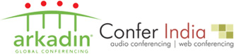 Logo for Arkadin Confer India'