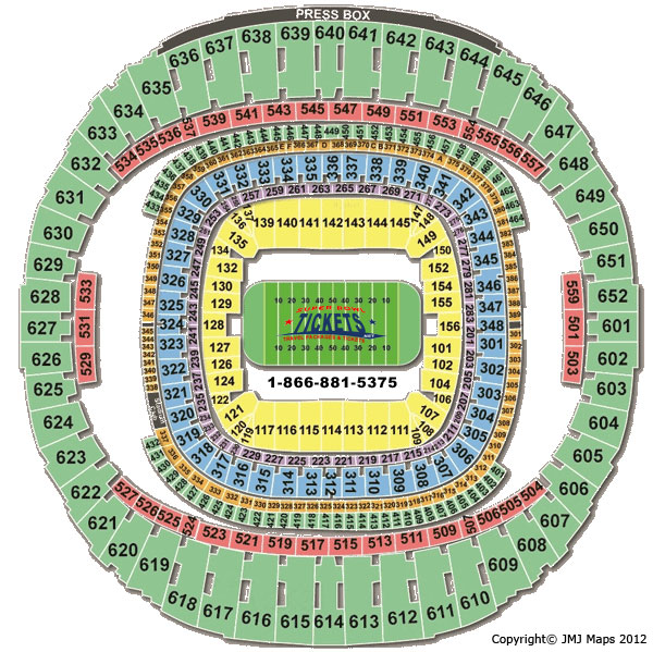Mercedes-Benz Superdome Stadium Seating Chart
