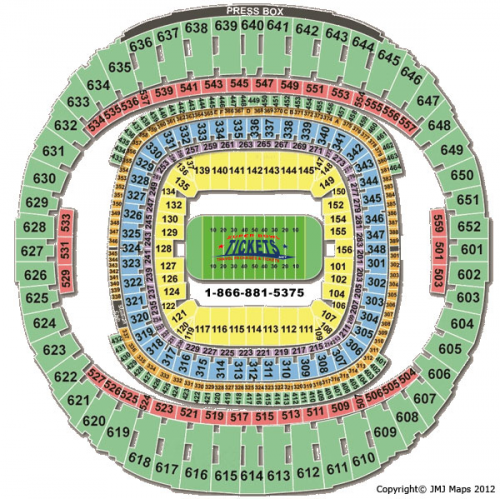 Mercedes-Benz Superdome Stadium Seating Chart'