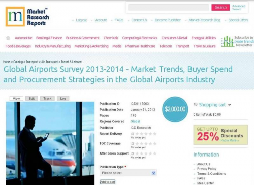 Global Airports Industry Survey 2013-2014 - Market Trends, B'