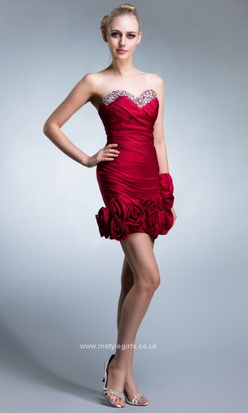 Hot Red prom dress'