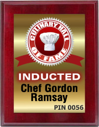 Chef Gordon Ramsay Inducted by the Culinary Hall of Fame'
