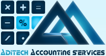 Logo for Aditech Accounting Services'