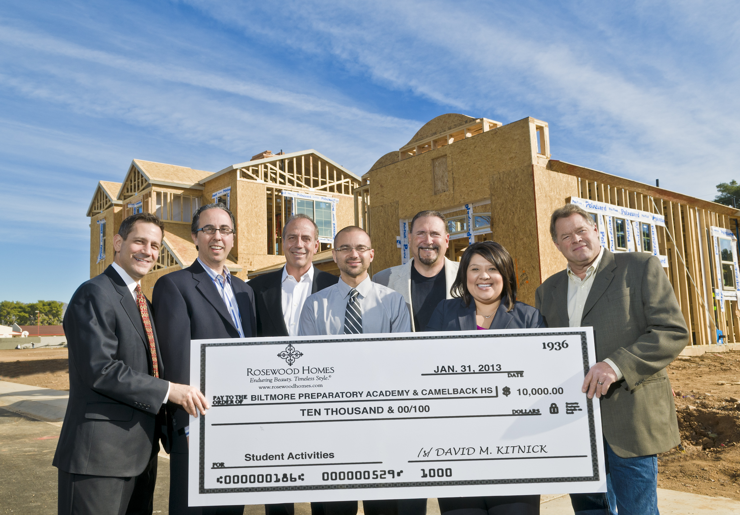 Rosewood Homes Donates $10,000 to Local Phoenix Schools