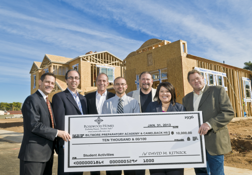 Rosewood Homes Donates $10,000 to Local Phoenix Schools'