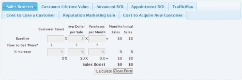 Online Marketing ROI Calculator'