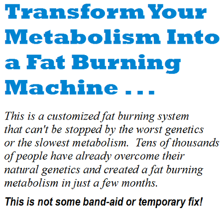 Customized Fat Loss'
