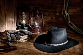 Black Felt Cowboy Hat'