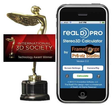 RealD Professional Stereo Calculator'