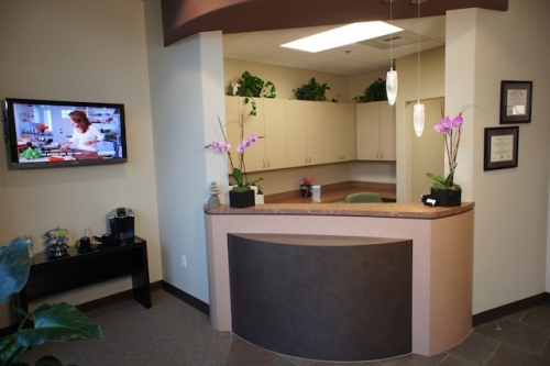 Redmond Way Dentistry Reception Desk'