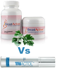 Breast actives Vs Triactol Review'