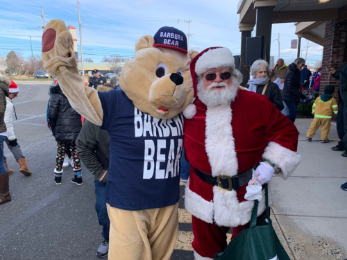 Gary Barbera and the Barbera Bear Thank the East Norriton an'