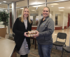 STORExpress employees bringing muffins to a local school.'