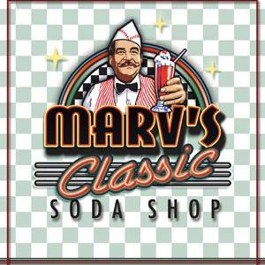 Company Logo For Marv's Classic Soda Shop'