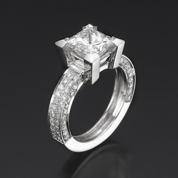 Cubic Zirconia rings selection'